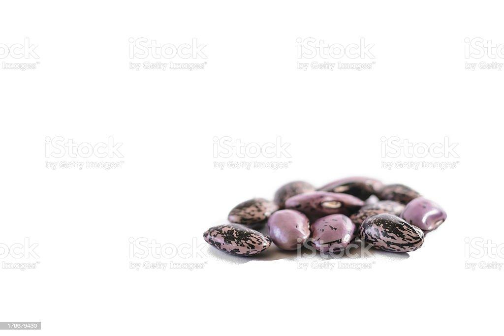 Many strew motley haricot beans royalty-free stock photo