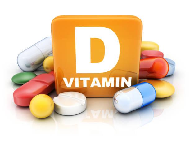 Many tablets and vitamin D stock photo