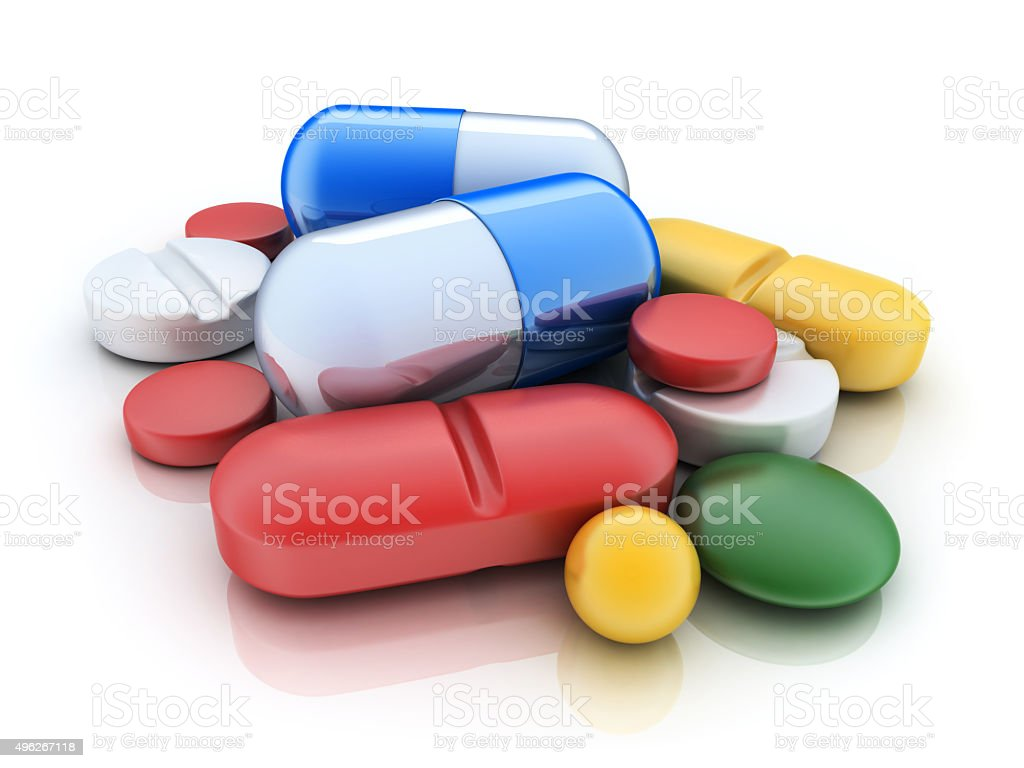Many tablets stock photo
