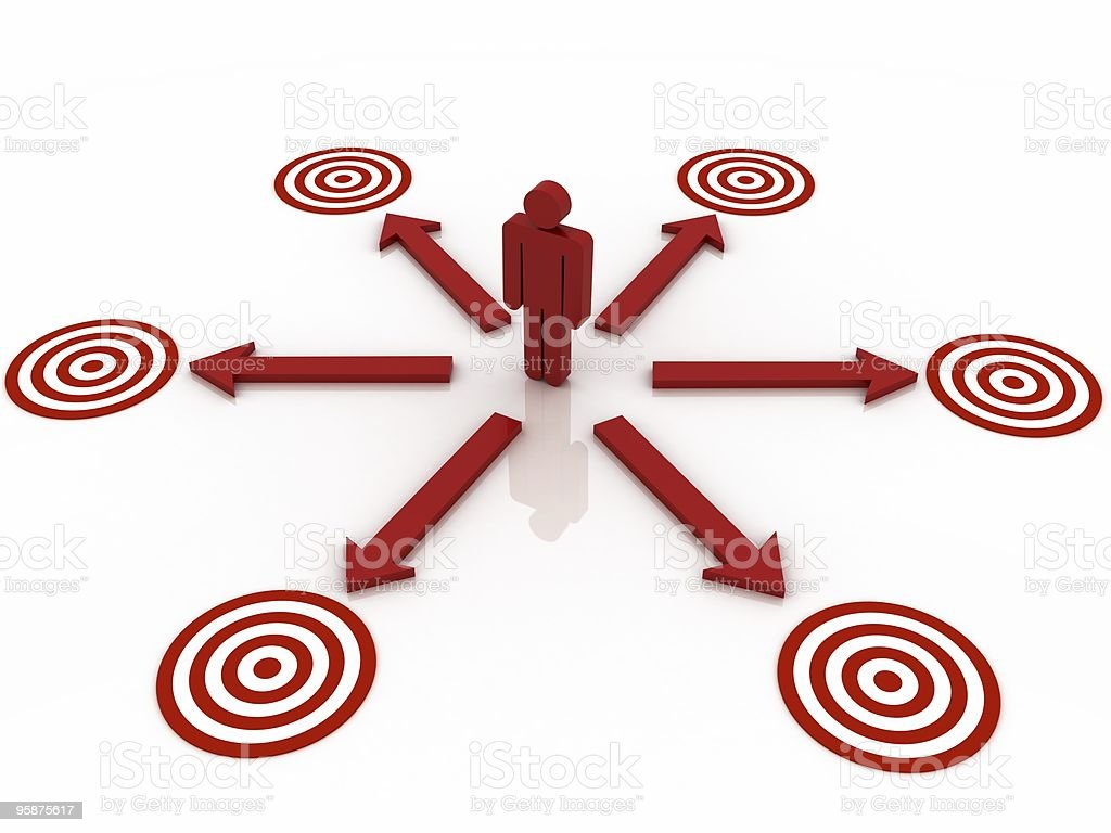 Many Targets Concept royalty-free stock photo