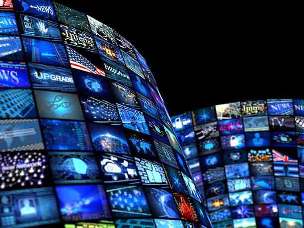 concept de médias, actualités - multimédia photos et images de collection