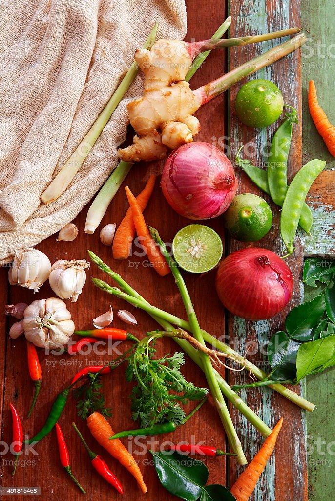 many thai vegetable stock photo