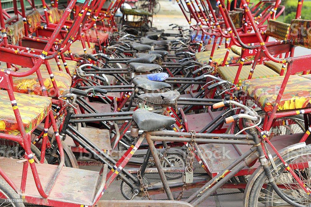 many thishaw on parking royalty-free stock photo