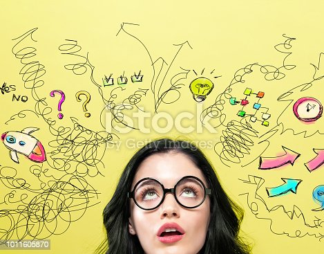 istock Many Thoughts with young woman 1011605870