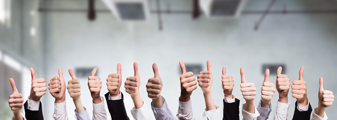 Many Thumbs Up Stock Photo - Download Image Now