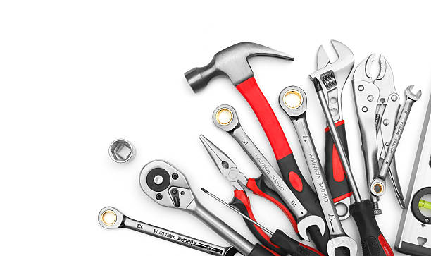 Many Tools Many Tools on white background work tool stock pictures, royalty-free photos & images