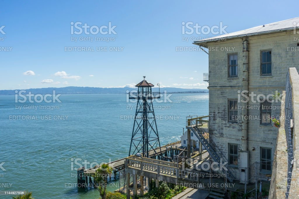 Many Tourist Sightseeing At The Park Of The Alcatraz Federal
