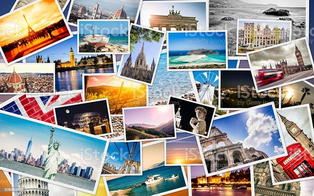 Many Travel Images Collage Royalty Free Stock Photo