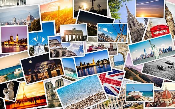 Viele Reise-Bilder Collage – Foto