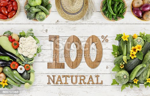 923629650istockphoto many vegetables top view on kitchen table white wooden, natural vegetable garden product concept template 869707068