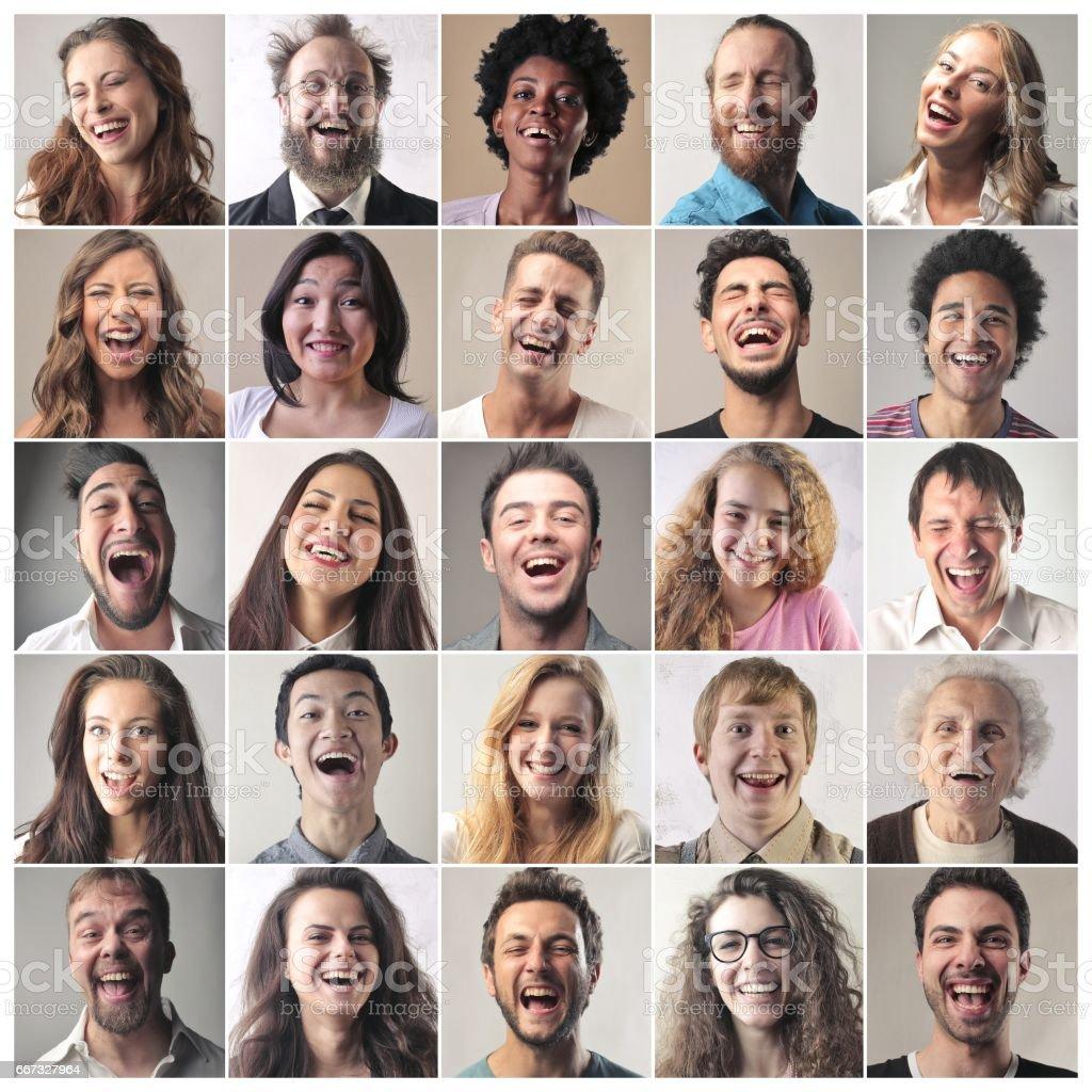 Many ways of happiness stock photo