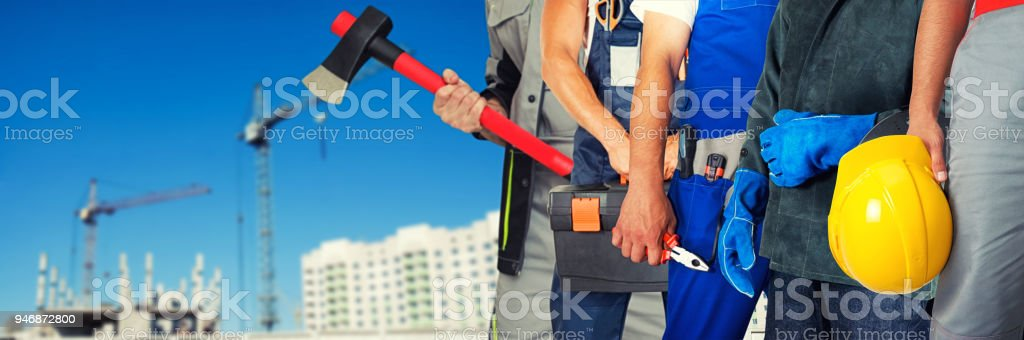 Viele Arbeitnehmer closeup – Foto