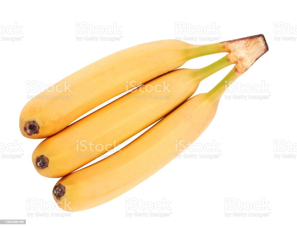 many yellow banana isolated stock photo