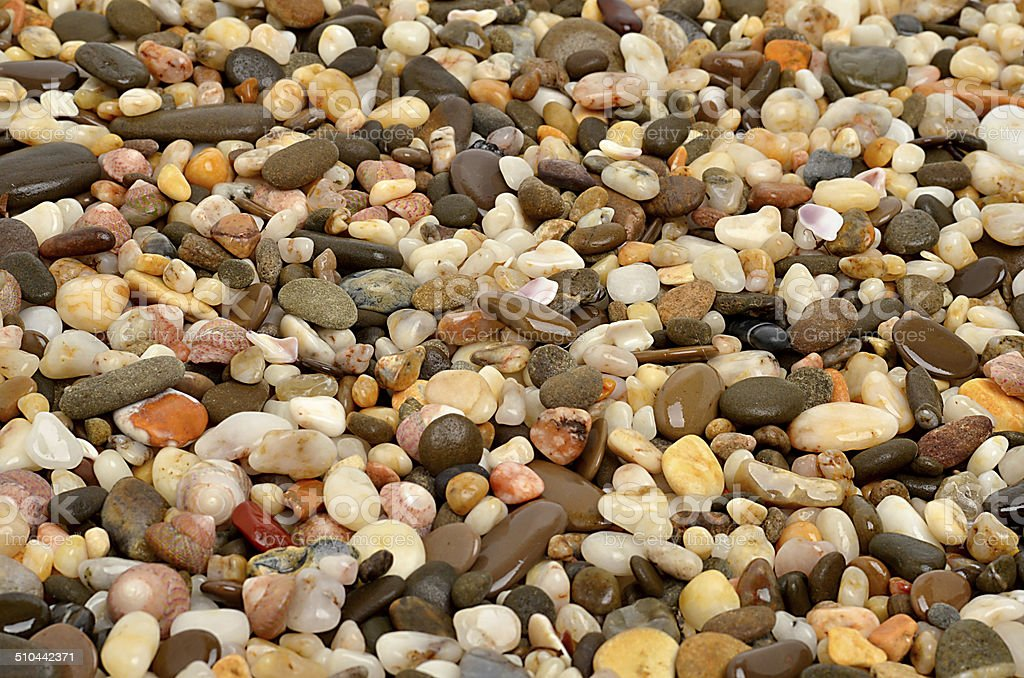 Many-colored little stones stock photo