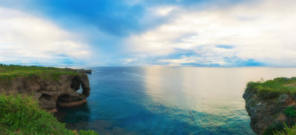 Manzamo Cape in Okinawa, Japan Okinawa Prefecture, Japan, Famous Place, Naha, Asia naha okinawa stock pictures, royalty-free photos & images