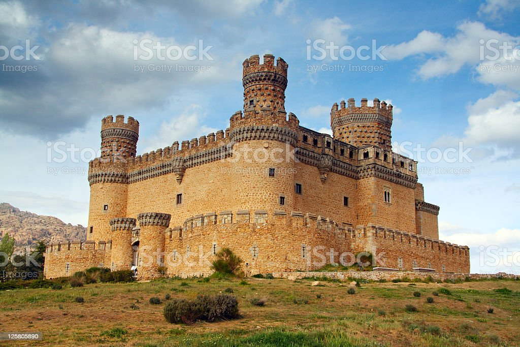 Manzanares el Real Castle, Spain stock photo