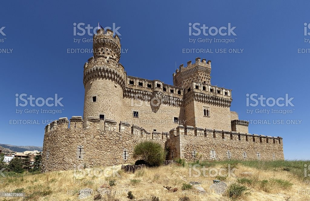 Manzanares el Real Castle stock photo