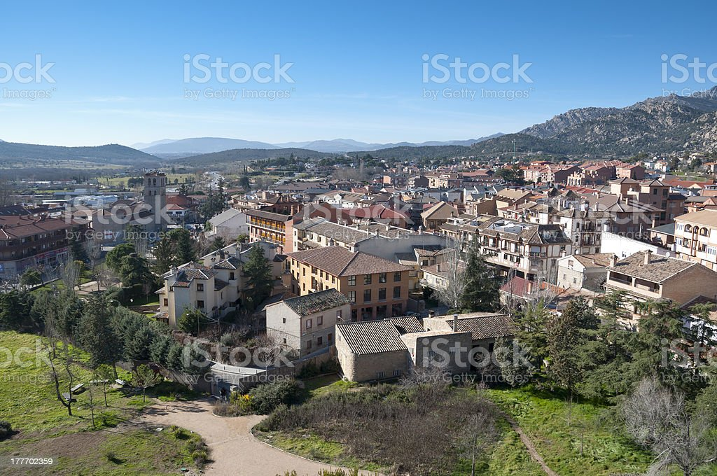 Manzanares el Real stock photo