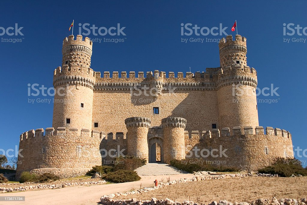 Manzanares's Castle in Madrid stock photo