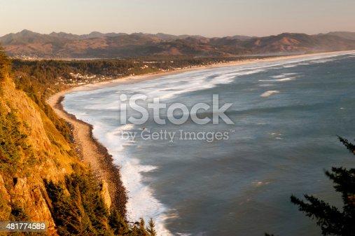 Manzanita coast sunset in Oregon