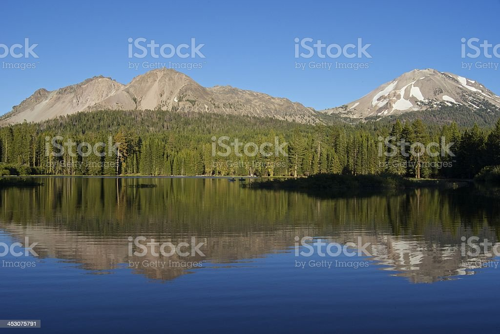 Manzanita Lake stock photo