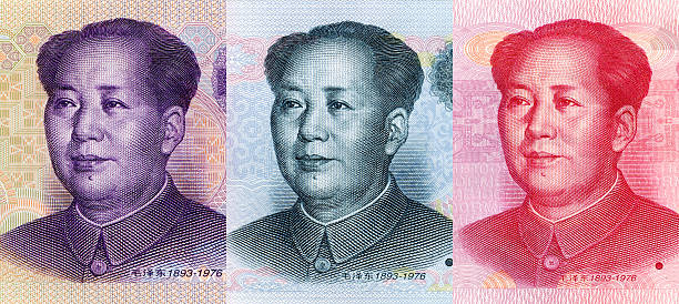 Mao tse-tung (XXXL) Close-up of Mao Zedong's portrait on 5 Yuan RMB,10 Yuan RMB,100 Yuan RMB (China Currency). mao tse tung stock pictures, royalty-free photos & images