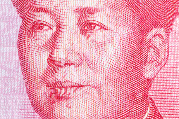 Mao Zedong on chinese hundred yuan banknote. High resolution photo Mao Zedong on chinese hundred yuan banknote. mao tse tung stock pictures, royalty-free photos & images