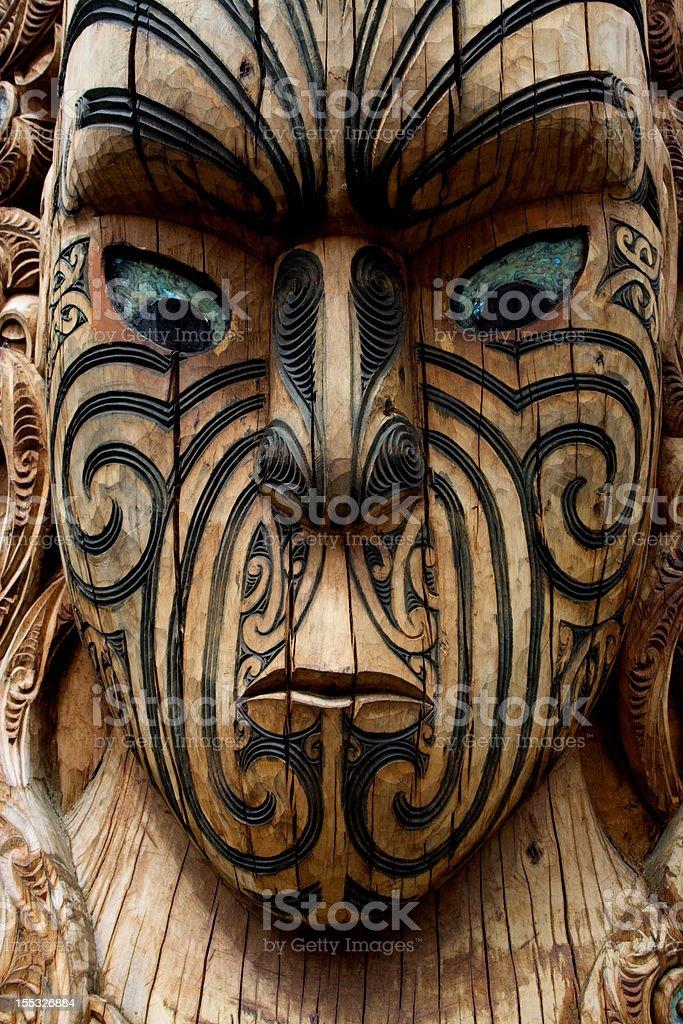 Maori Carving 6 royalty-free stock photo
