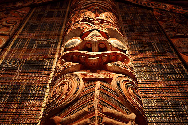 maori carving - maori stock photos and pictures