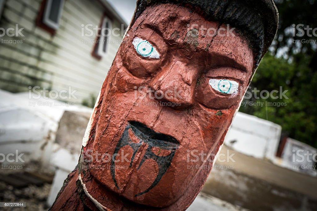 Maori carving stock photo