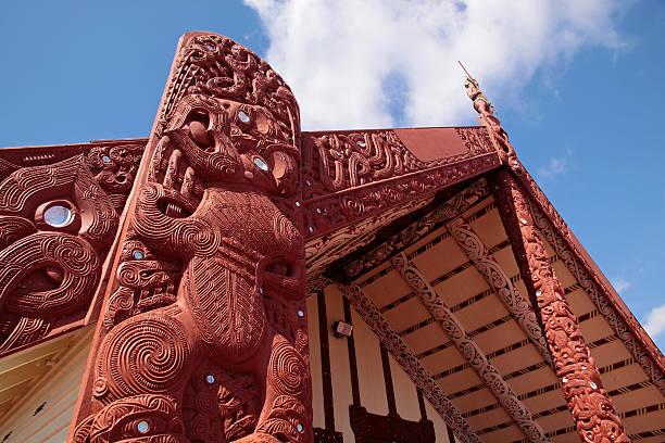 "Maori house in Rotorua ""Maori house in Rotorua, North Island, New Zealand"" rotorua stock pictures, royalty-free photos & images"