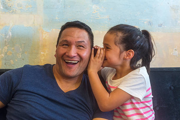 maori pacific islander father and daughter family having fun together - maori stock photos and pictures
