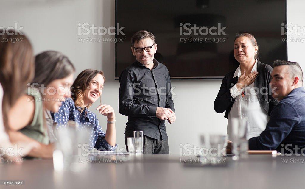 NZ Maori Small Business Meeting. stock photo