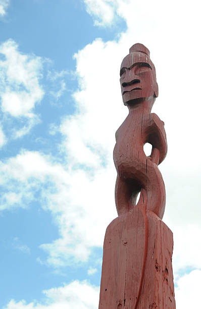 Maori-Statue – Foto