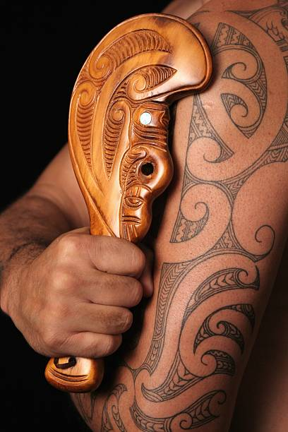 maori tribal patterns - maori stock photos and pictures