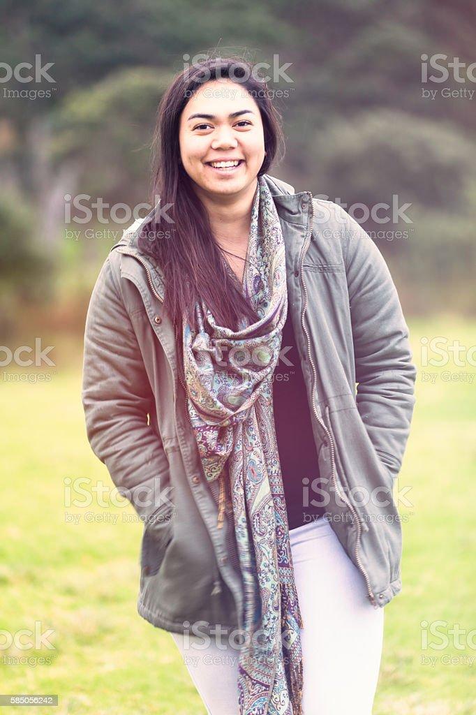 Maori woman. royalty-free stock photo