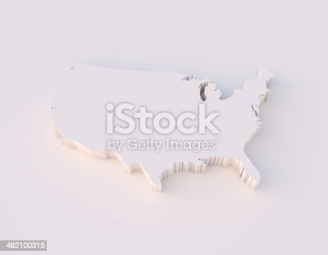 450754061 istock photo USA map 3D with clipping path 462100315