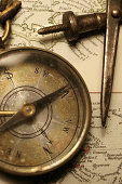 istock Map and Compass 172887164
