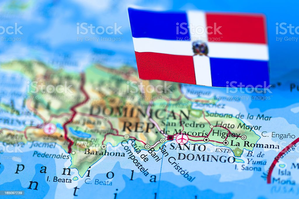Map And Flag Of Dominican Republic Stock Photo & More Pictures of ...