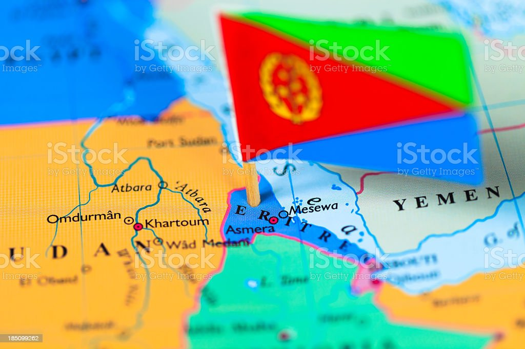Cartina Eritrea.Map And Flag Of Eritrea Stock Photo Download Image Now Istock