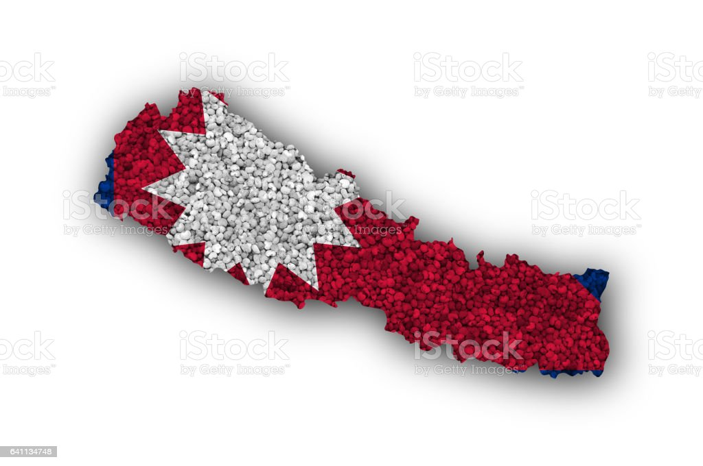 Map And Flag Of Nepal On Poppy Seeds Stock Photo & More Pictures of ...