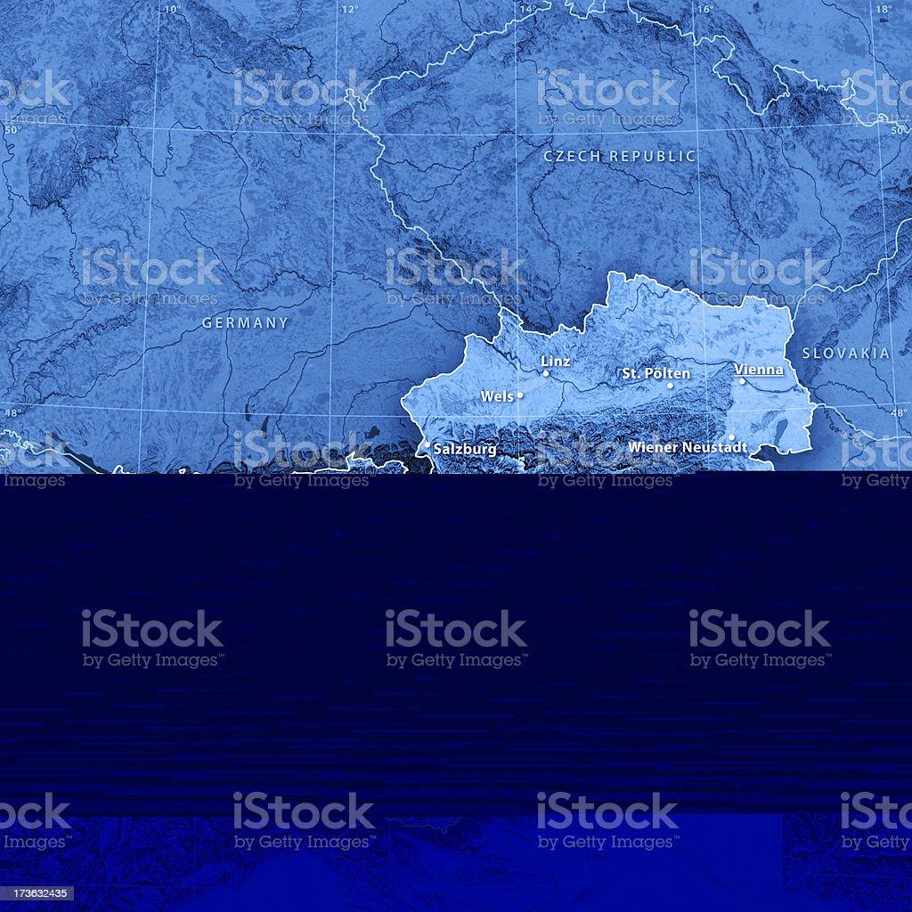 Map Austria (english version) royalty-free stock photo