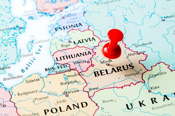 Map Belarus stock photo