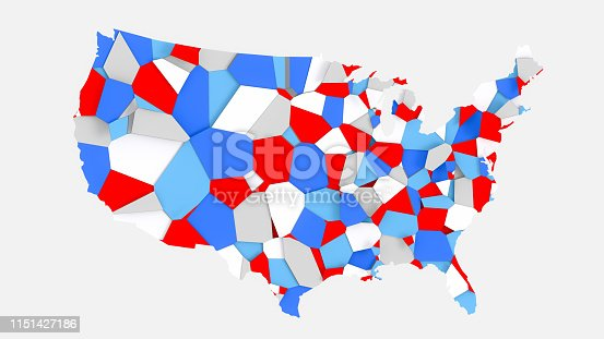 1056103150istockphoto 3D US map broken into random fragments 1151427186