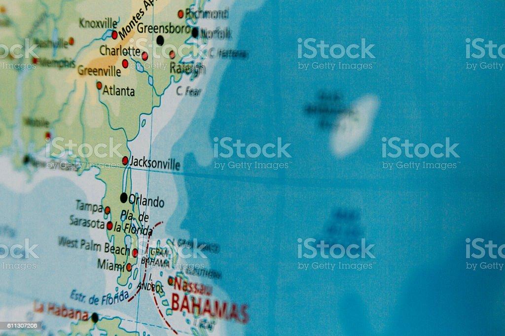 Map Closeup Macro In Florida Usa Stockfoto und mehr Bilder von ...