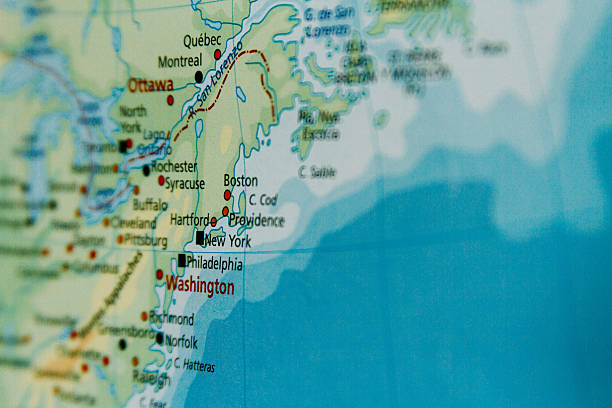 Northeast United States Map Pictures Images And Stock Photos IStock - Us map close up