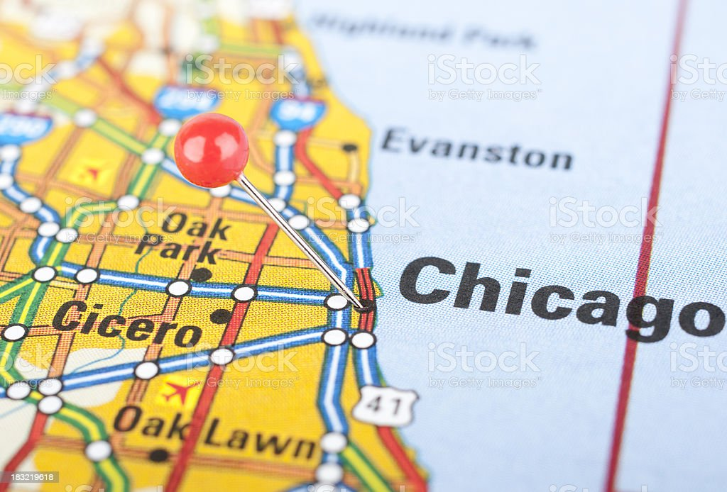 Map Closeup Of Chicago stock photo iStock