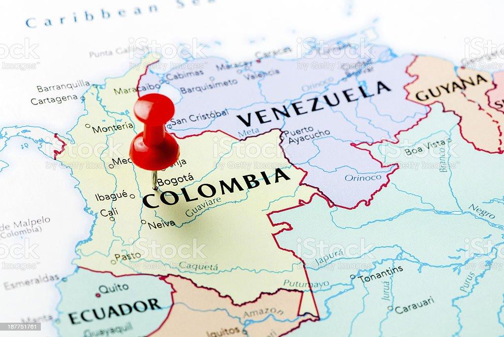 Fotografa de Mapa De Colombia y ms banco de imgenes de
