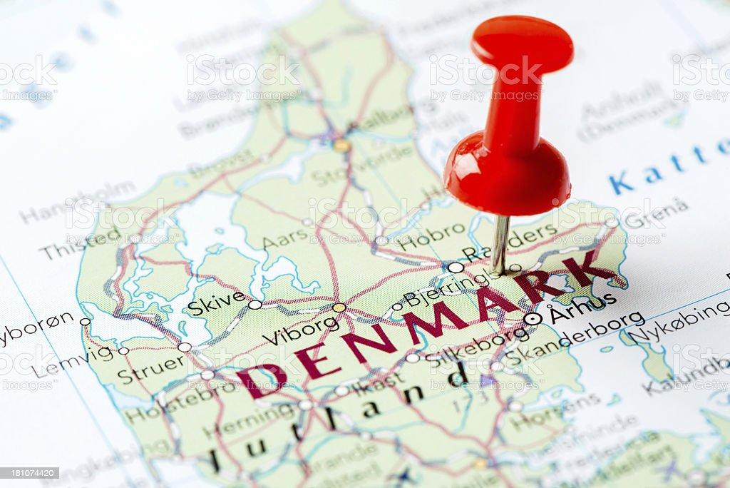 Map Denmark royalty-free stock photo