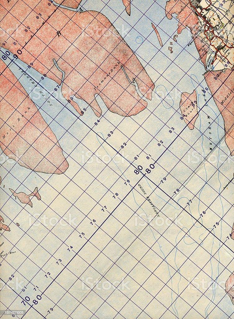 Map detail royalty-free stock photo